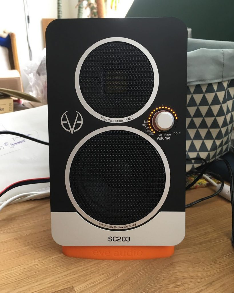 unbelievable sound comin out of these small eveaudio sc203 speakershellip