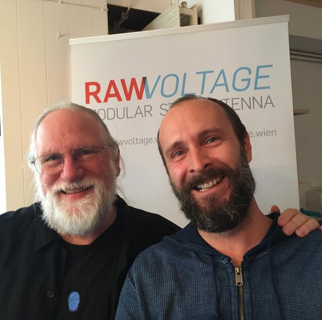 synthtodd came by for a visit rawvoltagevienna ! We feelhellip